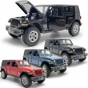 1:32 Jeep Wrangler Sahara SUV Model Car Diecast Toy Vehicle Kids Boys Gift New