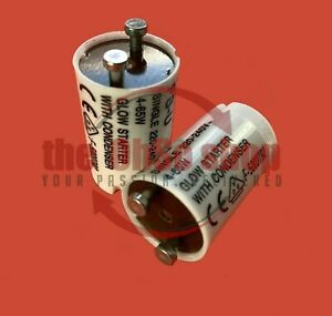 2 x Fluorescent Light Starter 4-65W FSU (FS-U) Vernons 220-240v Tube Strip-Light