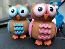 2X Cute Couple The owl Antenna Balls Car Aerial Ball Antenna Topper Decor Ball