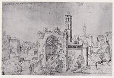 D4812 Roma - Orto del Convento di Santa Maria - Stampa d'epoca - 1935 old print