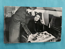 United Airlines Diniing Aloft 200 miles an hour Real Photo Interior 1938 RPPC