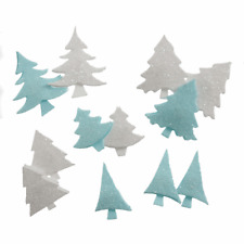 12 Self Adhesive Glitter 3d Christmas Trees for Paper Crafts