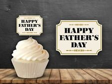 12 Fathers Day Cupcake Toppers Party Cake Dad Grandad Party
