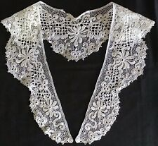 More details for beautiful antique white lace collar~floral design