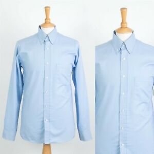 MENS VINTAGE RED KAP USA WORK SHIRT BLUE CHAMBRAY STYLE BUTTON DOWN COLLAR S