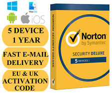 Norton Internet Security Deluxe 5 Device / 1 Year UK&EU Key 2020 EMAIL ONLY