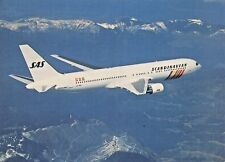 S.A.S. BOEING 767 Airline Airplane Postcard