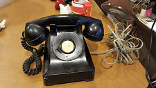 1940s Mid Century Vintage Bell Western Electric F1  Desk Telephone Phone Blk