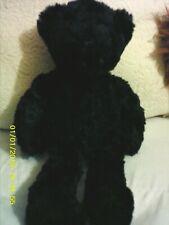 "Just Friends Teddy Bear Plush Beanbag 15"" Vintage 1999 black soft Fur"
