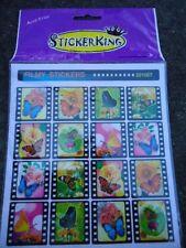 StickerKing Sheet of 16 Butterfly & Flower Filmy Stickers Acid Free #201007