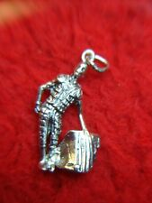 STERLING SILVER MATADOR CHARM - READY TO ADD  TO YOUR BRACELET OR NECKLACE