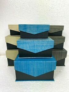 Set of Graduated Gift Boxes Magnetic Lid 3 sizes, 3 Colours Great for Xmas Gifts