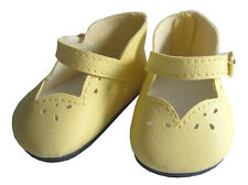 """EASTER Yellow Scalloped Dress Shoes for 18"""" American Girl Doll Clothes"""