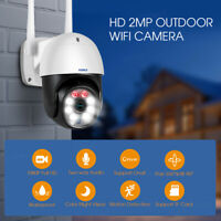 HD 1080P IP Camera Outdoor WiFi PTZ CCTV Security Wireless Smart Home IR Cam