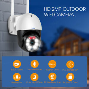 HD 1080P IP Camera Outdoor WiFi PTZ CCTV Security Wireless Smart Home IR Cam lot