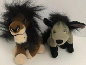 The Lion King Scar Lion & Shenzi Hyena Bean Bag Plush Stuffed Toy Disney 90s