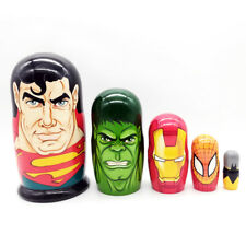 Superman Hulk Iron Man Spider-Man Batman madwoman big matryoshka 5pcs #51