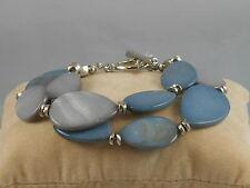 Shell Double Strand Toggle Bracelet $42 Kenneth Cole Silvertone Denim Days Blue