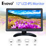 "Portable Eyoyo 12"" IPS Monitor 1920X1080  Input Audio Video VGA BNC USB HDMI AV"