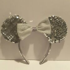 Disney Parks Silver Sequin Minnie Mouse Ears