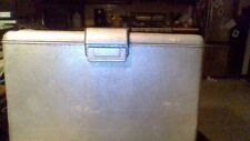 Vintage J.C. Higgins Aluminum Cooler Ice Chest Blue Handles Picnic Lake 🔥 💛 ♻️
