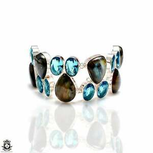 Labradorite Blue Topaz Bracelet B4193