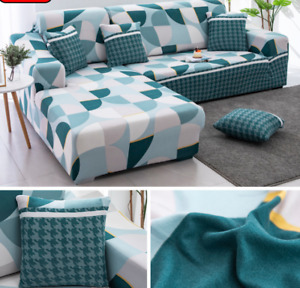 1/2/3/4Seater Print Patten Sofa Covers for Living Room Elastic Stretch Protector