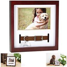 Dog Cat Collar Keepsake Frames Espresso Solid Wood Shadowbox Frame New