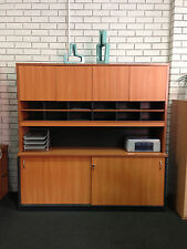 Wall Unit with cupboard doors and pigeon hole Office Desk Storage Cabinets