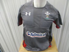 New listing VINTAGE UNDER ARMOUR WALES UNION RUGBY POLO MEDIUM SEWN TEST GREY JERSEY