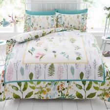 BOTANIQUE FLEURS DOUBLE Ensemble de couverture & taie d'oreiller couette floral