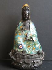 Guanyin en Bronze cloisonné de CHINE
