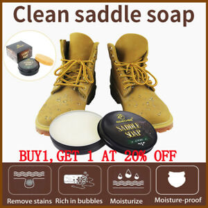 100ML Fiebing's Saddle Soap Leather Cleaner WHITE  Leather Shoes Cleaning Cream1