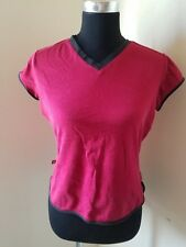 Express Jeans Juniors Red Shot Sleeve Shirt Top Size Large