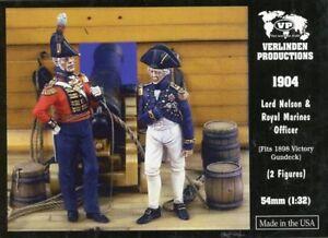 Verlinden 1:32 54mm Lord Nelson Royal Marines Officer 2 Resin Figures Kit #1904