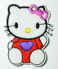 2x Purple Love Hello Kitty Iron On Patch ,Made of Cloth Guaranteed 100% Quality