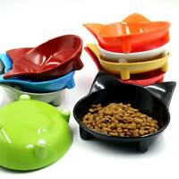 Cat Face Shaped Pet Feeder Bowl Non Slip Puppy Dog Feeding Food Water Dishs