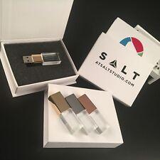 Unidad flash USB 3.0 de cristal de boda Personalizado Caja de almacenamiento pendrive 64GB De Vidrio