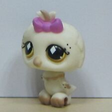 Littlest Pet Shop Animal LPS Loose Toys Rare Night Owl White Bird
