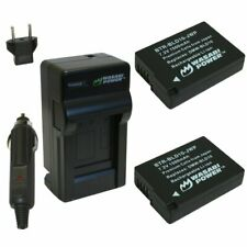 Wasabi Power Battery (2-Pack) and Charger for Panasonic DMW-BLD10, DE-A93B