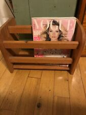 Vintage Wood Magazine Rack Country Home Heavy Weight Solid
