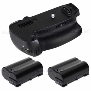 Battery Grip for Nikon D750 + 2x EN-EL15 Replacement Batteries