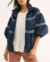 Free People Damen OB1041721 Jacke Entspannt Navy Blue Größe XS