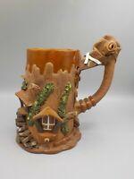 XL Studio Pottery Hobbit House XL Beer Stein Coffee Mug Fairy Garden B3