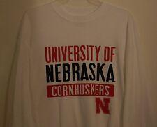 University of Nebraska Cornhuskers White Long Sleeved T-Shirt Size Small