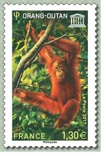 France 2017 UNESCO Endangered species Ourang Outan monkey affen singe 1v mnh **