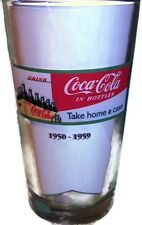 Coca Cola Pint Glass Libbey Collector Series 1950-59 Take Home A Case In Bottles