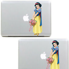 "(a) Snow White Sticker For Apple Macbook Pro Air 15""  Skin Decal Vinyl Cover"