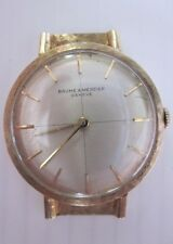 Mens Vintage Baume & Mercier dress Watch analog hand-winding 14kt Yellow Gold