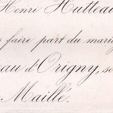 Antoine Hutteau D'Origny 1868 De Maillé La Tour-Landry